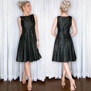 Zara Black Fit Flair Dress